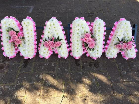 Nana Lettering Funeral Flowers Rotherhithe
