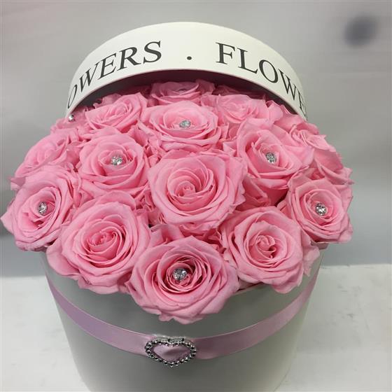 Pink Infinity Rose Hat Box