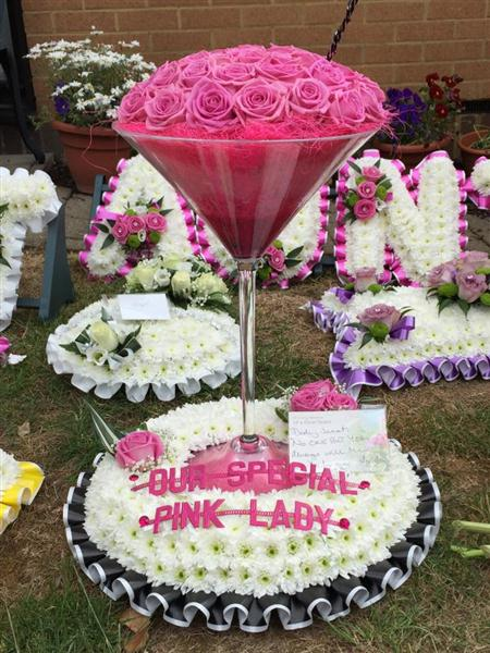 Cocktail Glass Funeral Tribute Funeral Flowers Rotherhithe